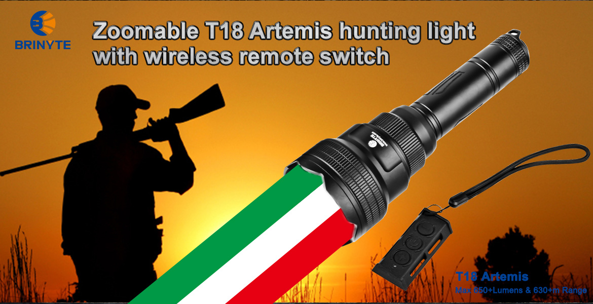 Zoomable Brinyte T18 Artemis hunting light with wireless remote switch (1).jpg